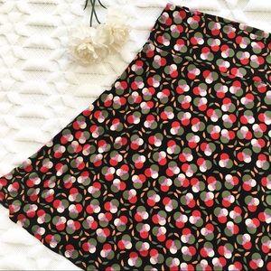 LuLaRoe Azure Skirt in Red Circle Print